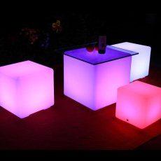 siddekube med lys