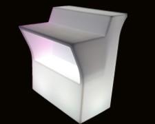 plastik bar med lys