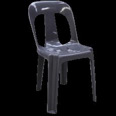 Grå havestol i plast